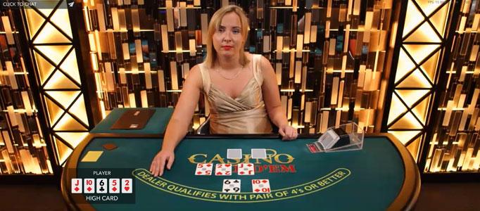 real cash live dealer blackjack session